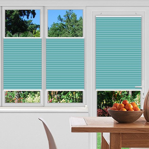 Pallister Turquoise Lifestyle Pleated blinds