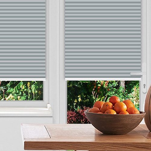 Felton Stripe Grey Lifestyle Pleated blinds