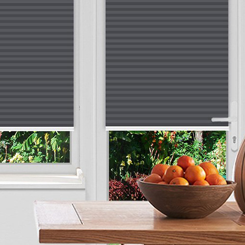 Rosewell Charcoal Lifestyle Pleated blinds