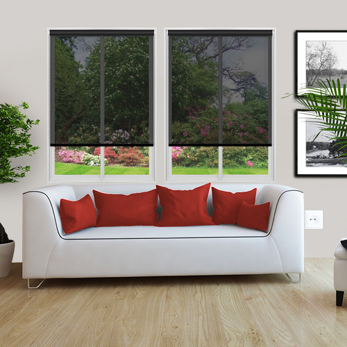 Voile Charcoal Noir Lifestyle Roller blinds