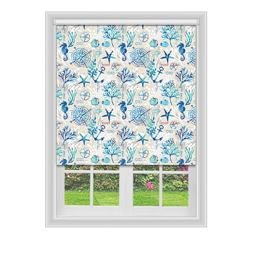 Seahorse Blue Lifestyle Roller blinds