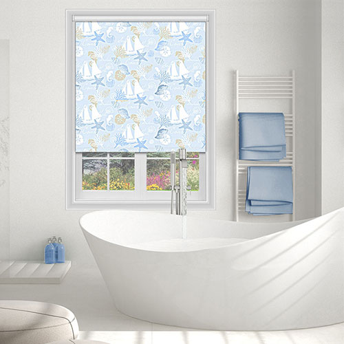 Star Fish Sky Blue Lifestyle Roller blinds