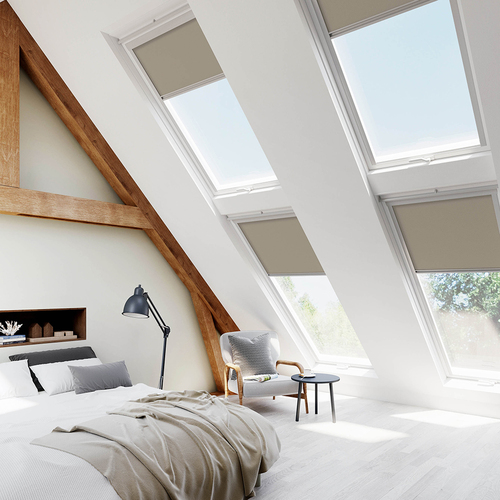 Fakro Tan Brown Lifestyle Skylight Blinds For FAKRO