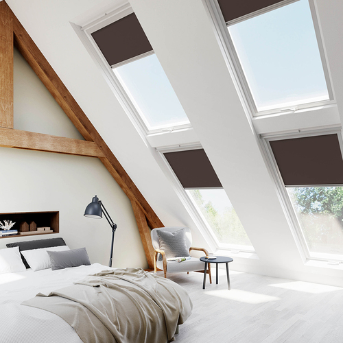 Velux Brown Lifestyle Skylight Blinds For VELUX