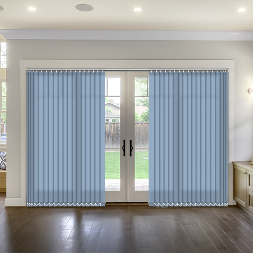 Thermal Blue Vertical Lifestyle Thermal Blinds