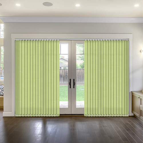 Thermal Fresh Apple Vertical Lifestyle Thermal Blinds
