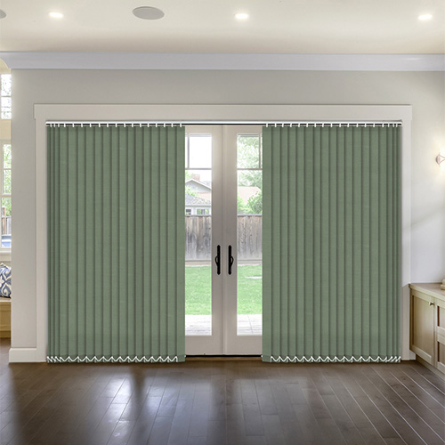 Thermal Hunter Green Vertical Lifestyle Thermal Blinds