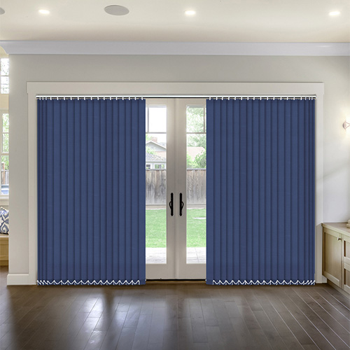 Thermal Navy Vertical Lifestyle Thermal Blinds
