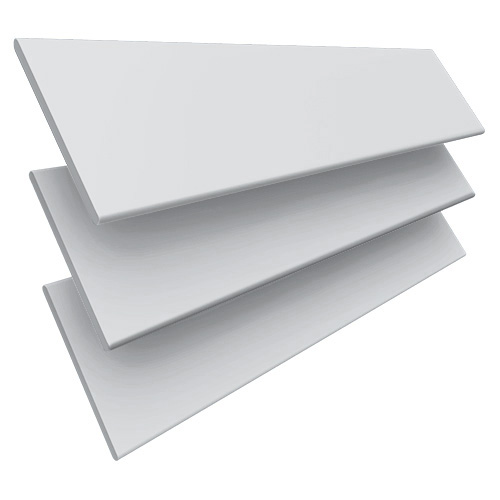 Smooth White & Silver Tape Wooden blinds