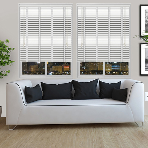 White Embossed & Snow Tape Lifestyle Wooden blinds