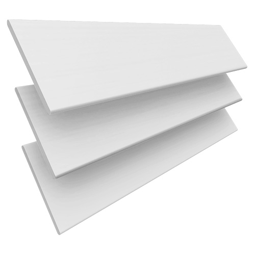 White Embossed & Snow Tape Wooden blinds