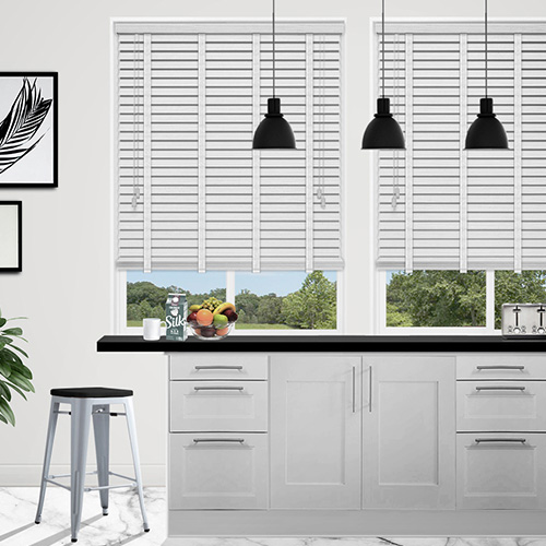 White Marl & Snow Tape Lifestyle Wooden blinds