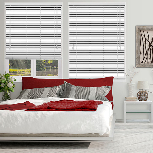 Pure Glazier White Lifestyle Wooden blinds