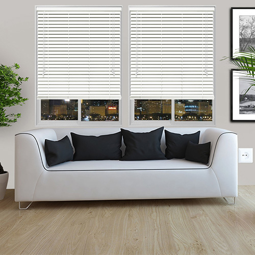 Pure White Lifestyle Wooden blinds
