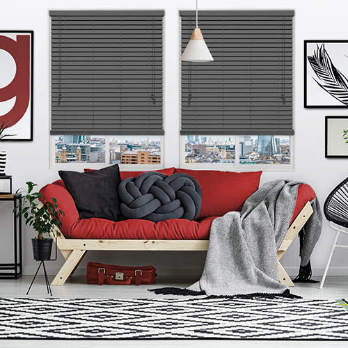 Urban Greyish Lifestyle Wooden blinds