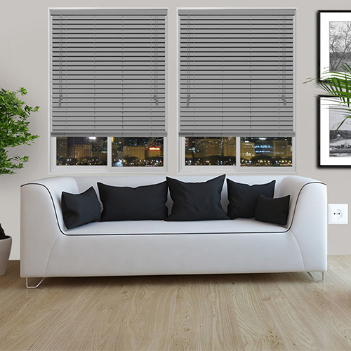 Urban Light Grey Lifestyle Wooden blinds