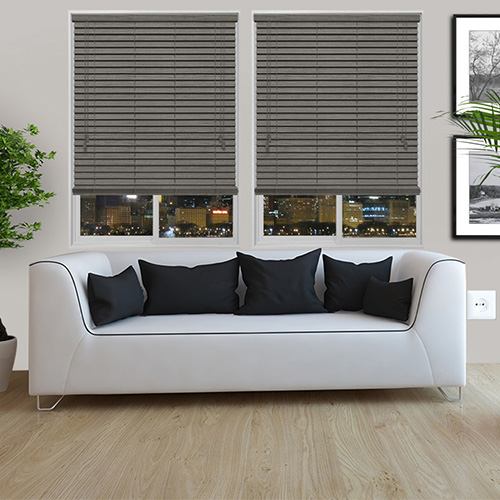 Urban Spec Grey Lifestyle Wooden blinds