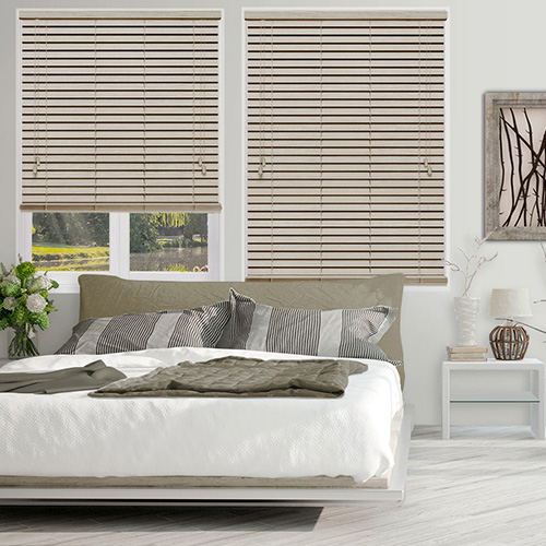 Abalone Embossed Cream Lifestyle Wooden blinds
