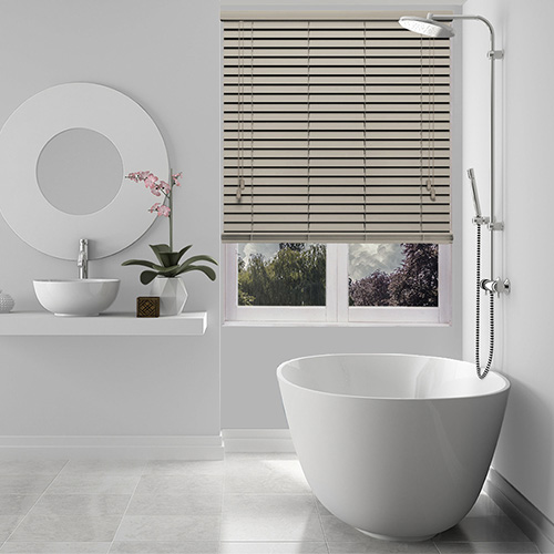 Canvas Oyster Lifestyle Wooden blinds