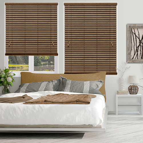 Caramel Faux Lifestyle Wooden blinds