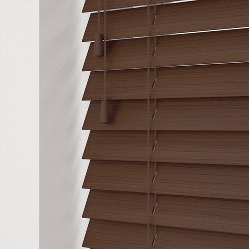 Hickory Faux Lifestyle Wooden blinds
