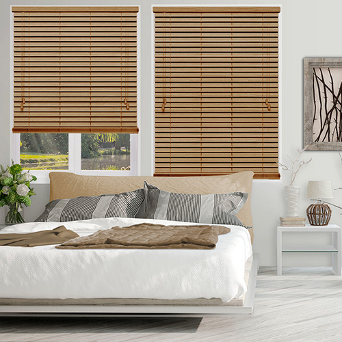 Neutral Oak Lifestyle Wooden blinds
