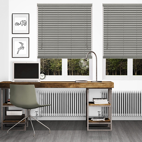 Seattle Embossed Grey Lifestyle Wooden blinds