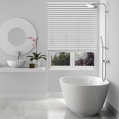 White Frost Fine Grain Lifestyle Wooden blinds