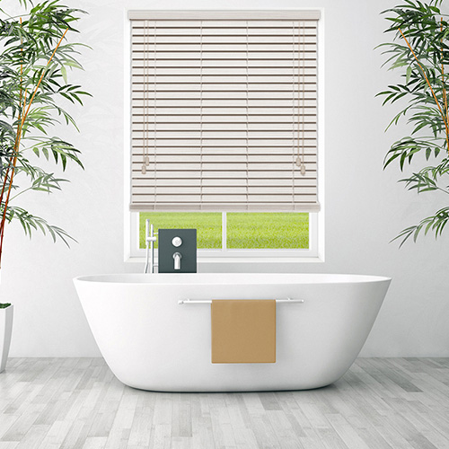 Cream Embossed Faux Lifestyle Wooden blinds