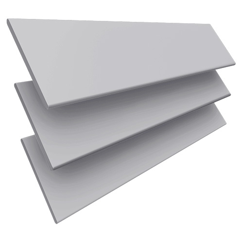 Smooth Grey Faux Wooden blinds