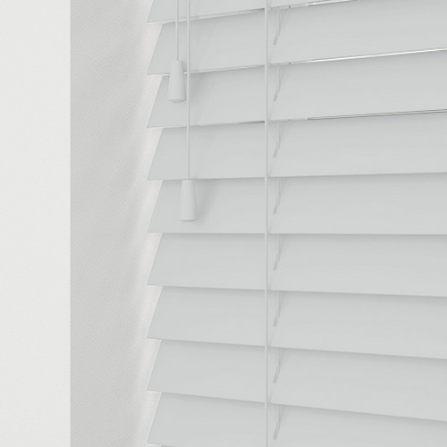 Smooth White Faux Lifestyle Wooden blinds