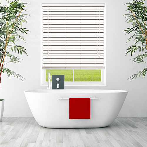 White Gloss Lifestyle Wooden blinds