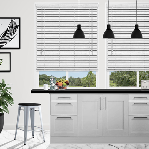 White Marl Faux Lifestyle Wooden blinds