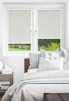 White Intu Pleated Blinds No Drill Blind For Pvc Windows