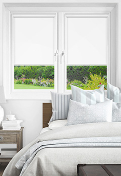 Newlyn China White Intu Roller Blind