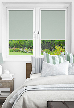 Newlyn Misty Blue Intu Roller Blind
