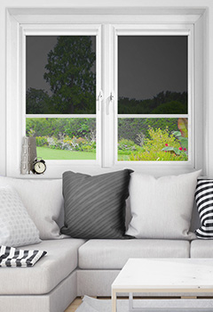 Vistaview Black Intu Roller Blind