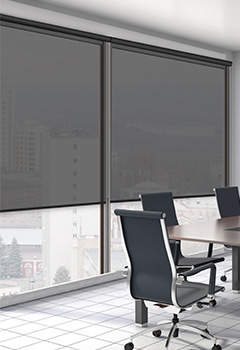 ROLTRA Black Office Blind