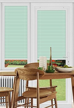 Dunball Green Perfect Fit Pleated Blind