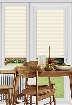 Ogden Ivory Perfect Fit Pleated Blind