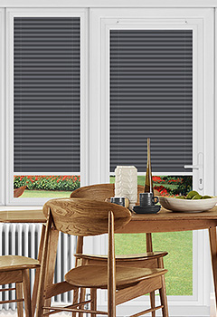 Rosewell Charcoal Perfect Fit Pleated Blind