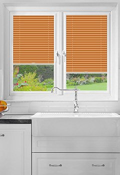 Hunwick Orange Perfect Fit Pleated Blind