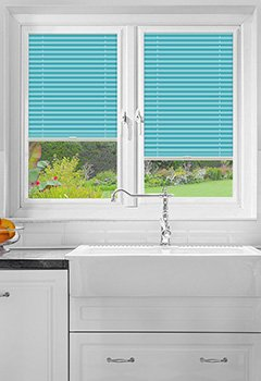 Pallister Turquoise Perfect Fit Pleated Blind
