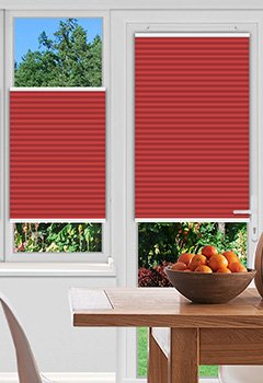 Foxcote Soft Crimson Pleated Blind