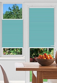 Pallister Turquoise Pleated Blind