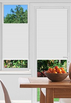 Pallister White Pleated Blind