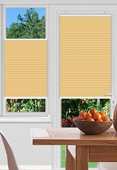 Ramshaw Tangerine Pleated Blind
