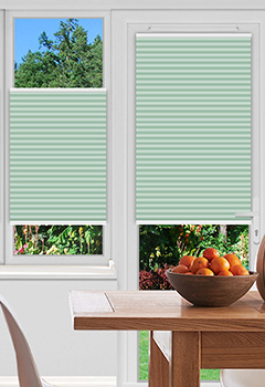 Dunball Green Pleated Blind