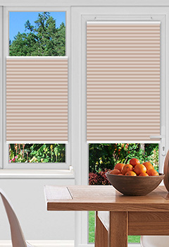 Dunball Peach Pleated Blind