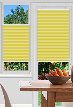 Pallister Yellow Pleated Blind
